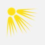 Vädersymbol av solen Arkivbilder