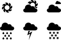 Vädersymboler vektor illustrationer