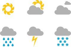 Vädersymboler stock illustrationer