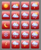 Vädersymboler Fotografering för Bildbyråer