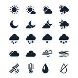 Vädersymboler Arkivfoton