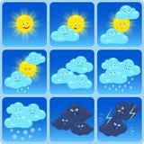 Vädersymboler Arkivfoto