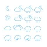 Vädersymboler Royaltyfri Fotografi