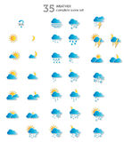 Vädersymboler Arkivbild