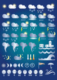 Vädersymboler Royaltyfria Bilder