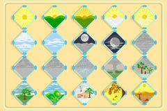 Vädersymboler för garnering Royaltyfria Bilder