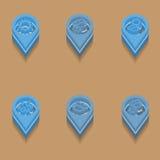 Vädersymboler i isometrisk stil Arkivbild
