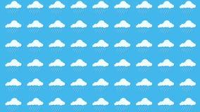 Vädersymboler, moln och sol arkivfoton