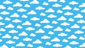 Vädersymboler, moln och sol arkivbilder
