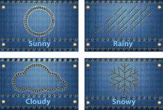 Vädersymboler och förutsåg symboler Royaltyfria Foton