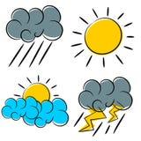 Vädersymbolsillustration Royaltyfri Foto