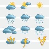 Vädersymbolstecken vektor illustrationer