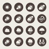 Vädersymbolsuppsättning stock illustrationer
