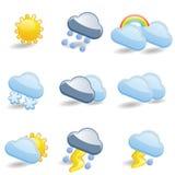 Vädersymbolsuppsättning Royaltyfria Foton