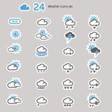 Vädersymbolsuppsättning Arkivfoton