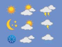 Väderuppsättning Arkivbilder