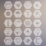 Vädervektorsymboler Royaltyfri Fotografi