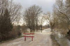 Vägöversvämning Fotografering för Bildbyråer