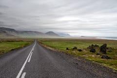 Väg 54 på Snaefellsnes, Island Fotografering för Bildbyråer