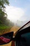 Väg av mist i dennan nationalparken i nan Fotografering för Bildbyråer