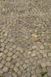 Väg av stenar Kvarterkonstruktion royaltyfria bilder