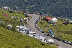 Väg av Tour de France Arkivbild