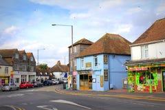 A259 väg Dymchurch Kent UK Arkivbild