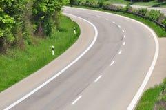 väg för 2 kurva Arkivbild
