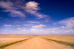 väg för 2 land Arkivfoto