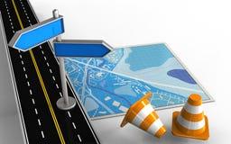 väg för asfalt 3d Royaltyfri Fotografi