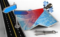 väg för asfalt 3d Royaltyfria Bilder