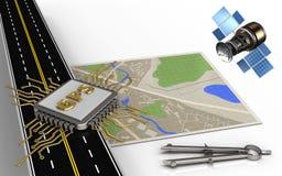 väg för asfalt 3d royaltyfri illustrationer
