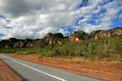 väg för Australien kakadunationalpark Royaltyfri Foto