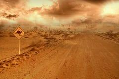 väg för australier outback Arkivfoton