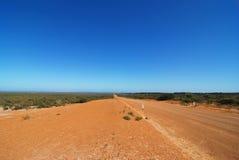 väg för australier outback Arkivfoto