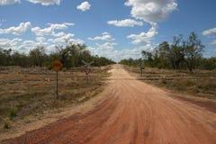Väg för australier Outback, Queensland royaltyfri fotografi