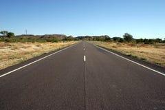 Väg för australier Outback, Queensland Arkivfoto
