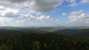 Väg för flyg- sikt i barrskogen på Lake Baikal, Buryatia, Ryssland stock video