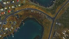 väg för 4K UHD i Island Bil i väg lager videofilmer