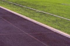 Väg för löpare i stadion Riskera på stadion royaltyfri fotografi
