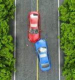 väg för motorway för olycksbilkrasch stock illustrationer