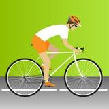 väg för race för cykelcyklistskog Royaltyfria Foton