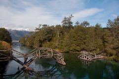 Väg för sju sjöar i villalaangosturan, Argentina Arkivfoto