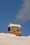 Väg för Snowblowerröjningsnö Royaltyfri Bild