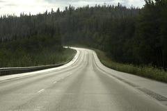 Väg från Fairbanks till ankringen Arkivbild
