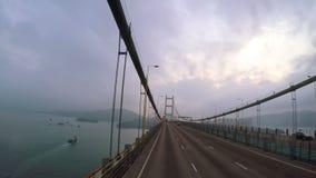 Väg från Hong Kong till flygplatsen Snabb rörelse stock video