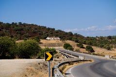 Väg i Algarve Royaltyfria Foton