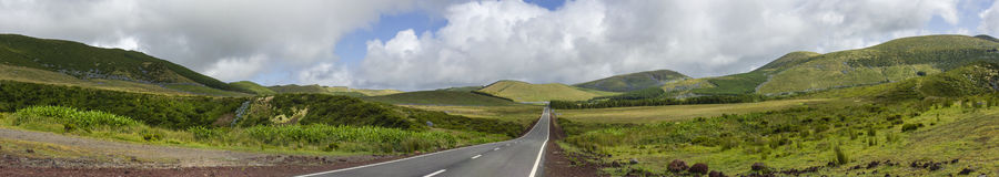 Väg i Azores Arkivbilder