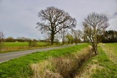Väg i Bedfordshire Royaltyfri Fotografi