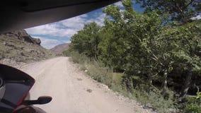 Väg i berg stock video